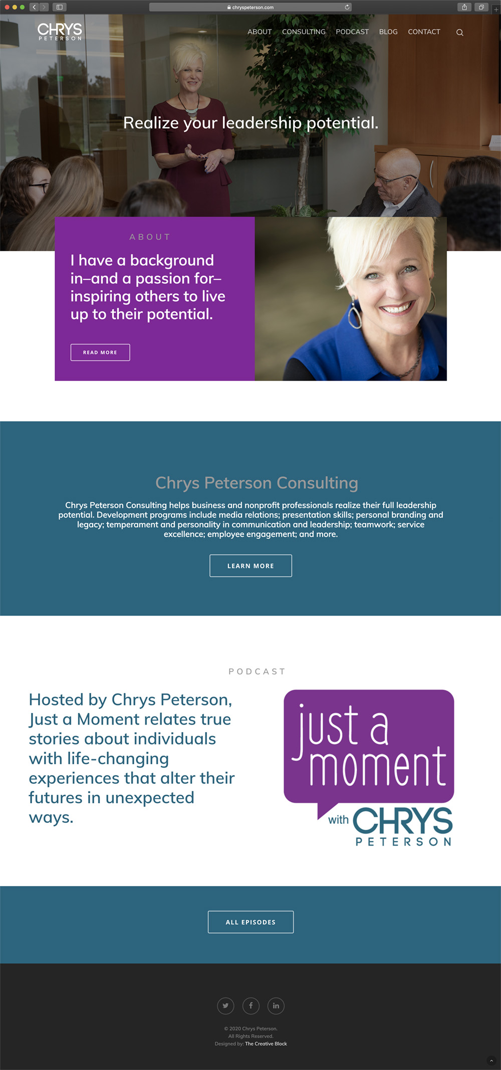 Chrys Peterson - Website