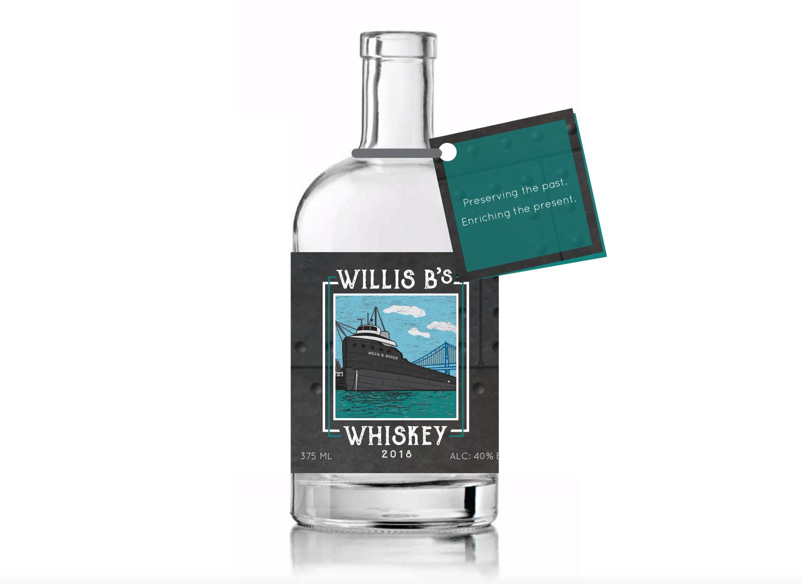 Fundraiser Bottle Label