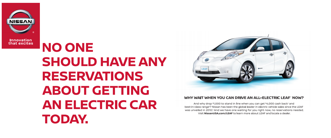 No one should have any reservations about getting an electric car today
