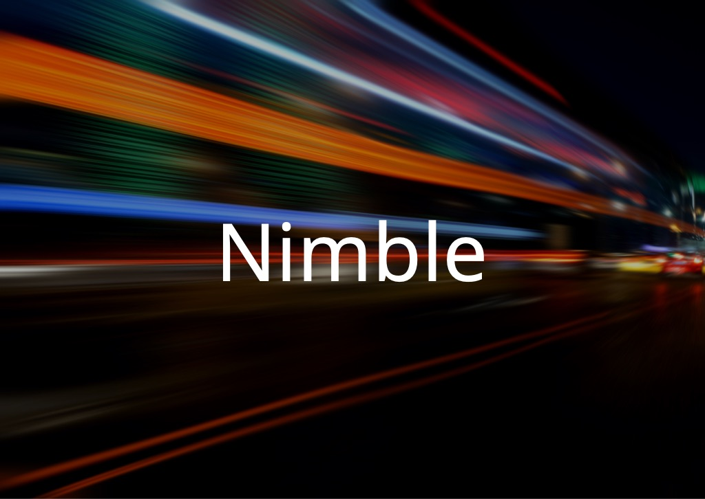 Motion background with NIMBLE word